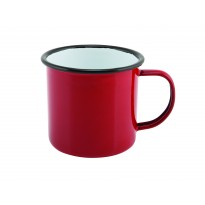 Emaille mok rood 360 ml